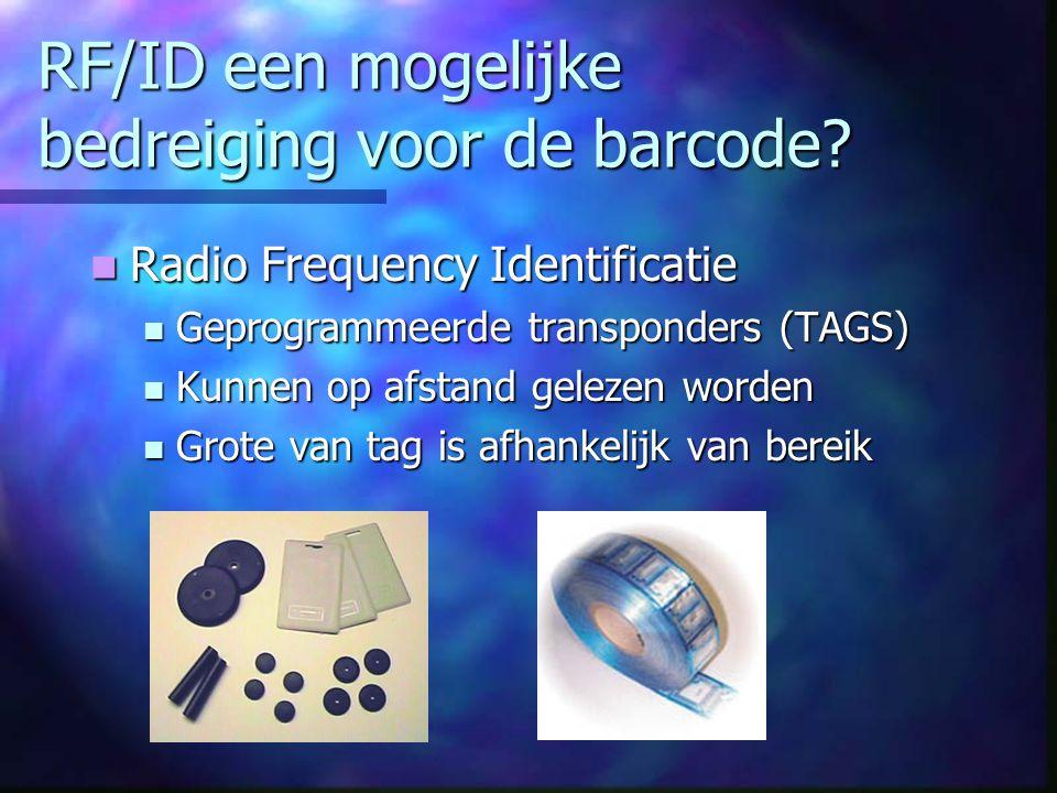 RF/ID een mogelijke bedreiging voor de barcode.