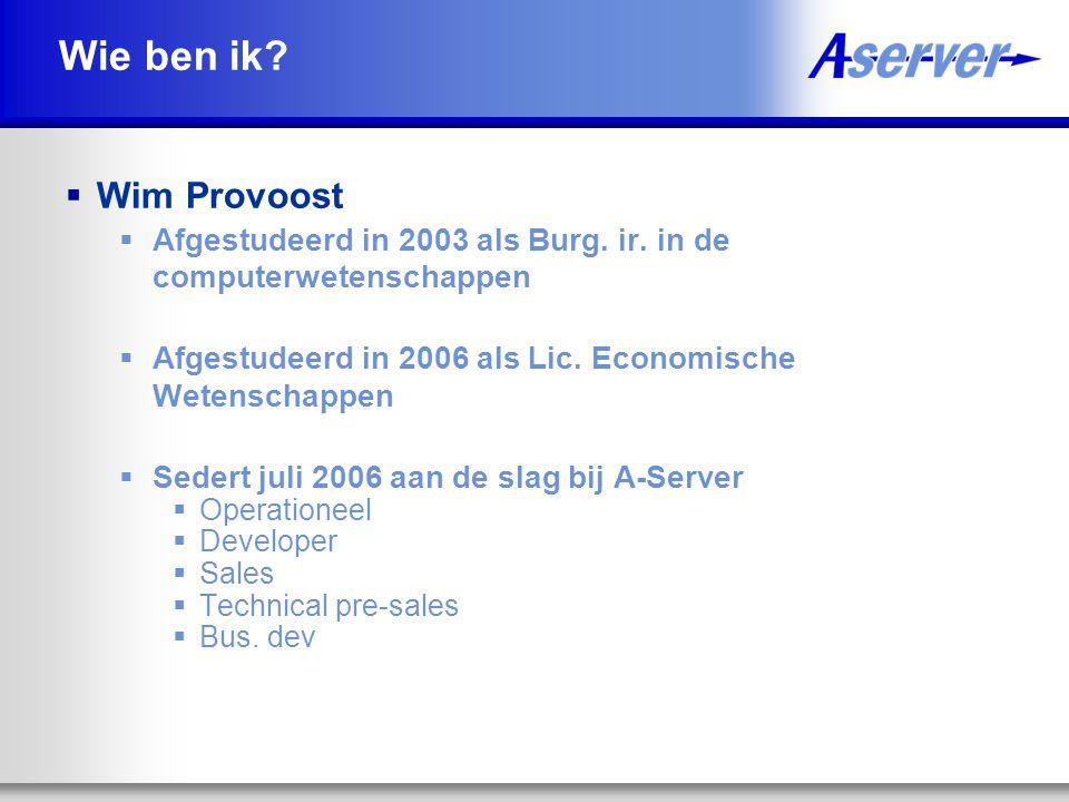 Wie ben ik. Wim Provoost  Afgestudeerd in 2003 als Burg.