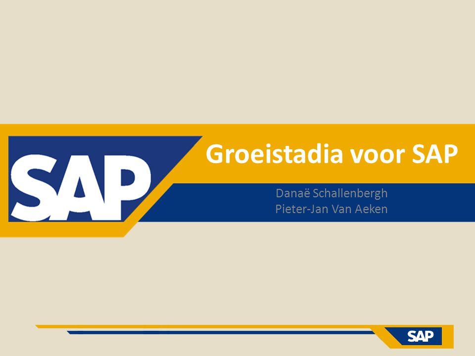 Groeistadia voor SAP Danaë Schallenbergh Pieter-Jan Van Aeken