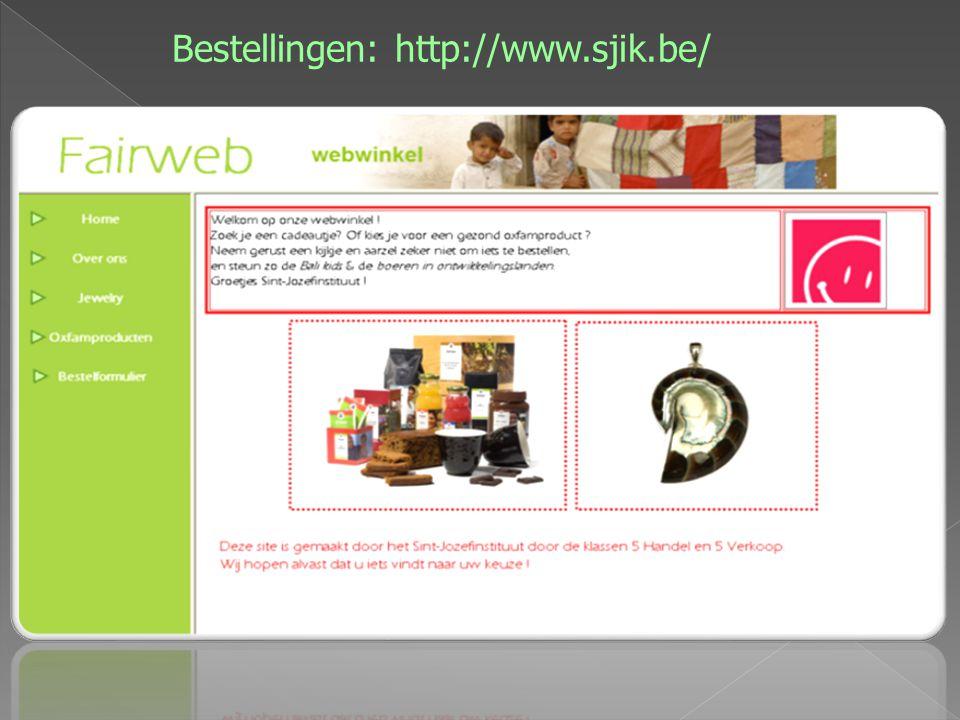 Bestellingen: http://www.sjik.be/