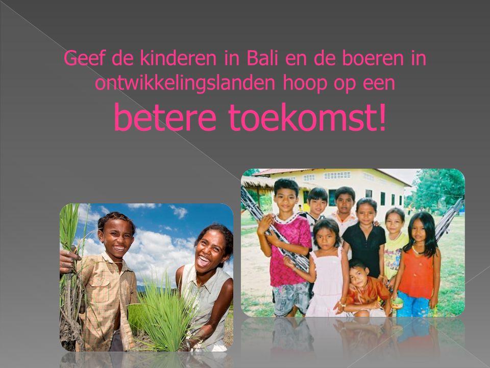 Geef de kinderen in Bali en de boeren in ontwikkelingslanden hoop op een betere toekomst!