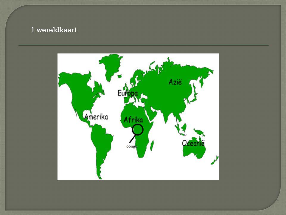 1 wereldkaart