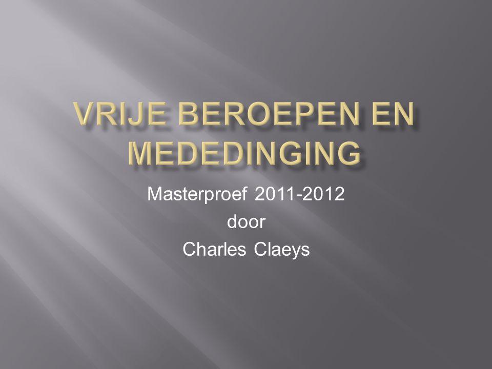 Masterproef 2011-2012 door Charles Claeys