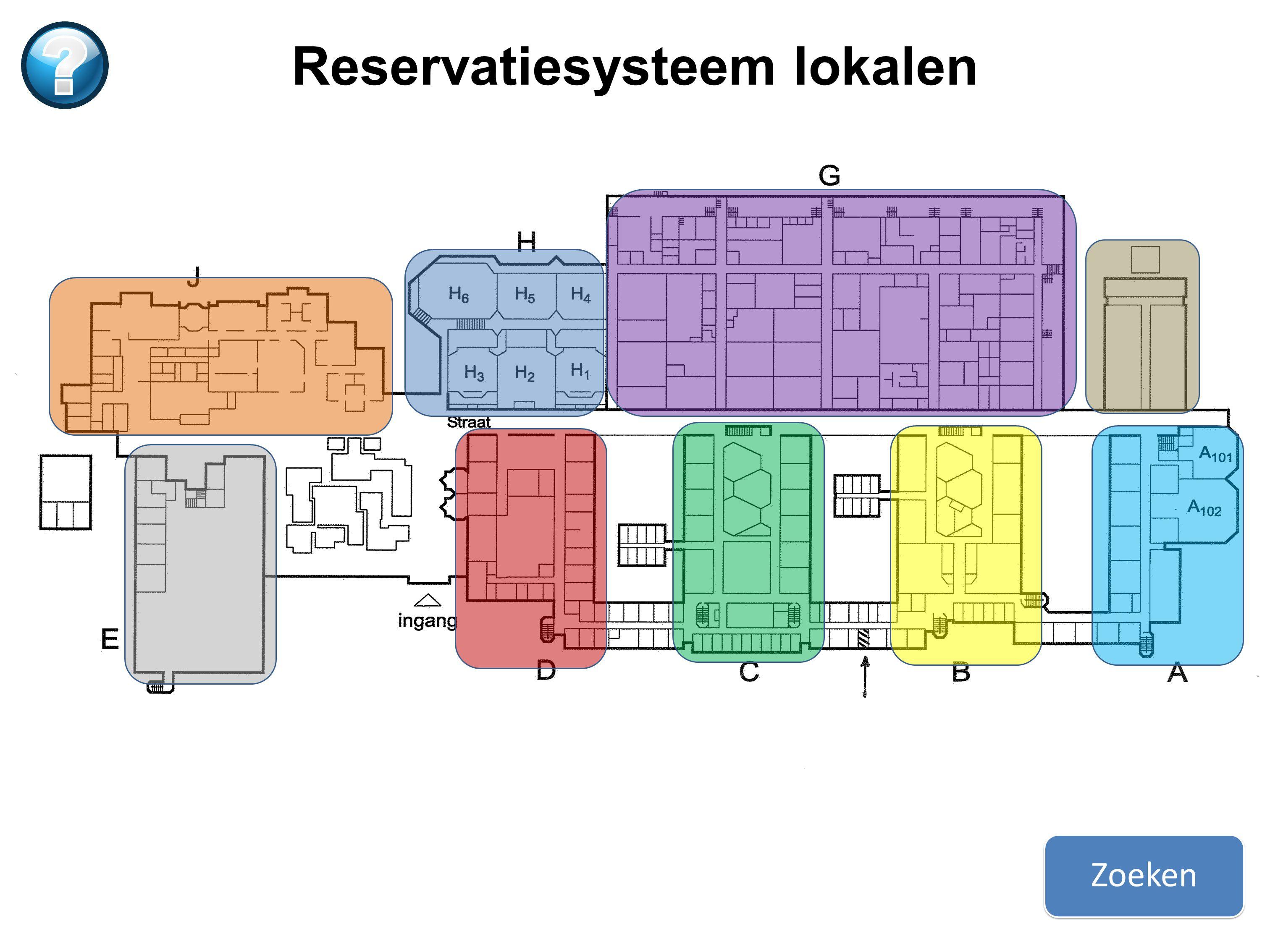 Zoeken Reservatiesysteem lokalen