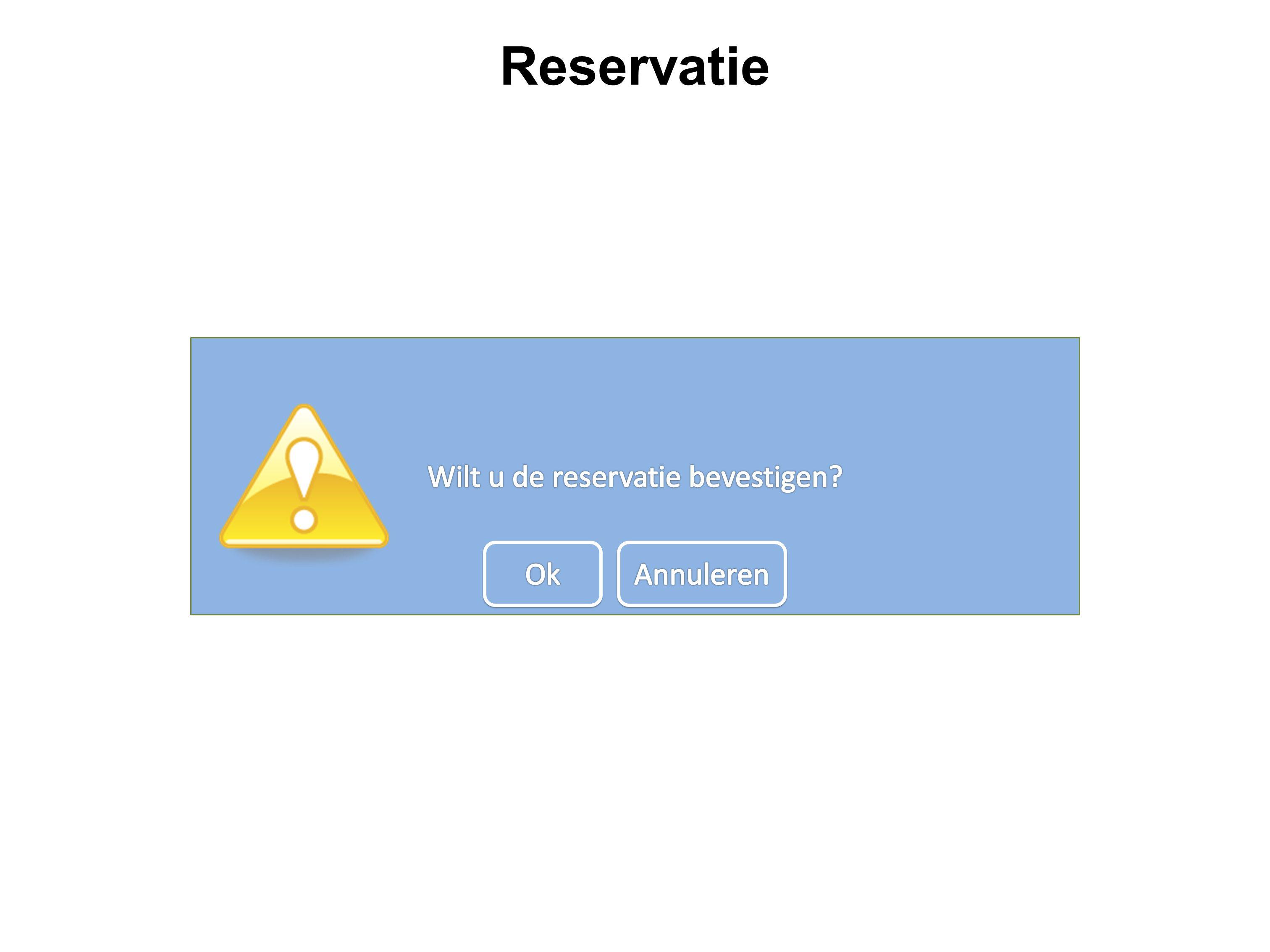 Reservatie