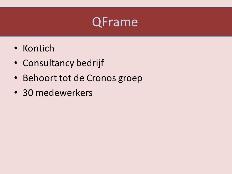 QFrame Kontich Consultancy bedrijf Behoort tot de Cronos groep 30 medewerkers