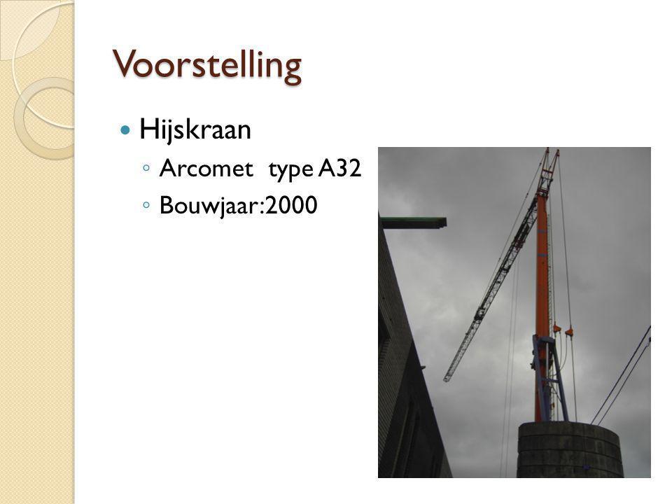 Voorstelling Hijskraan ◦ Arcomet type A32 ◦ Bouwjaar:2000