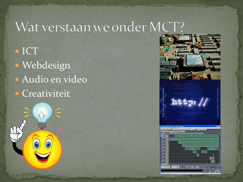 ICT Webdesign Audio en video Creativiteit