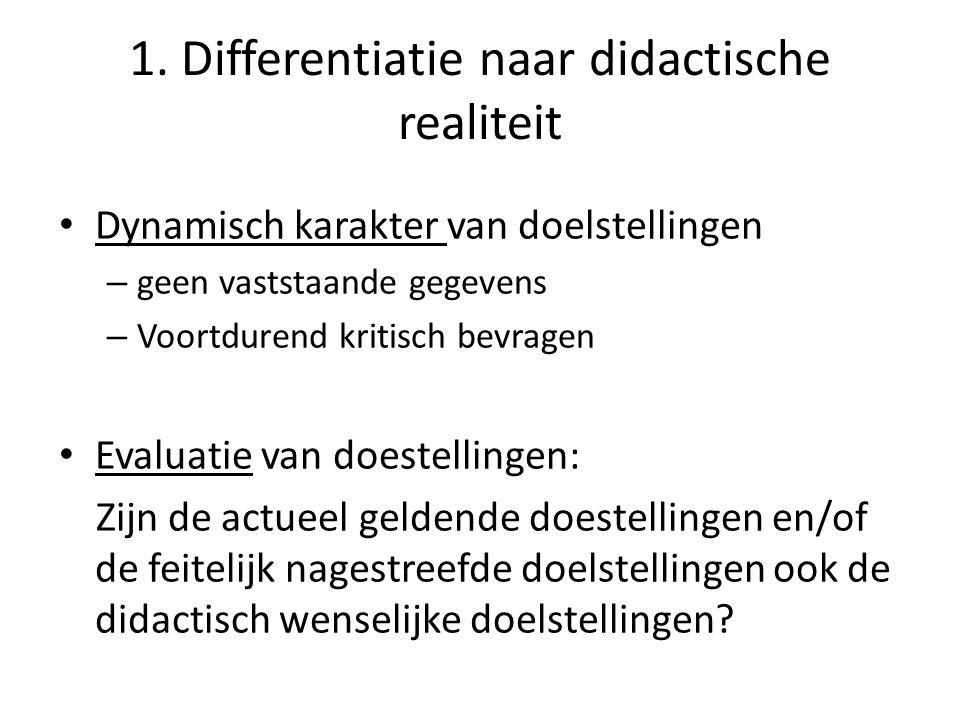 2.Algemene doelstellingen van de school Welke factoren bepalen mee de eindtermen die door S.O.