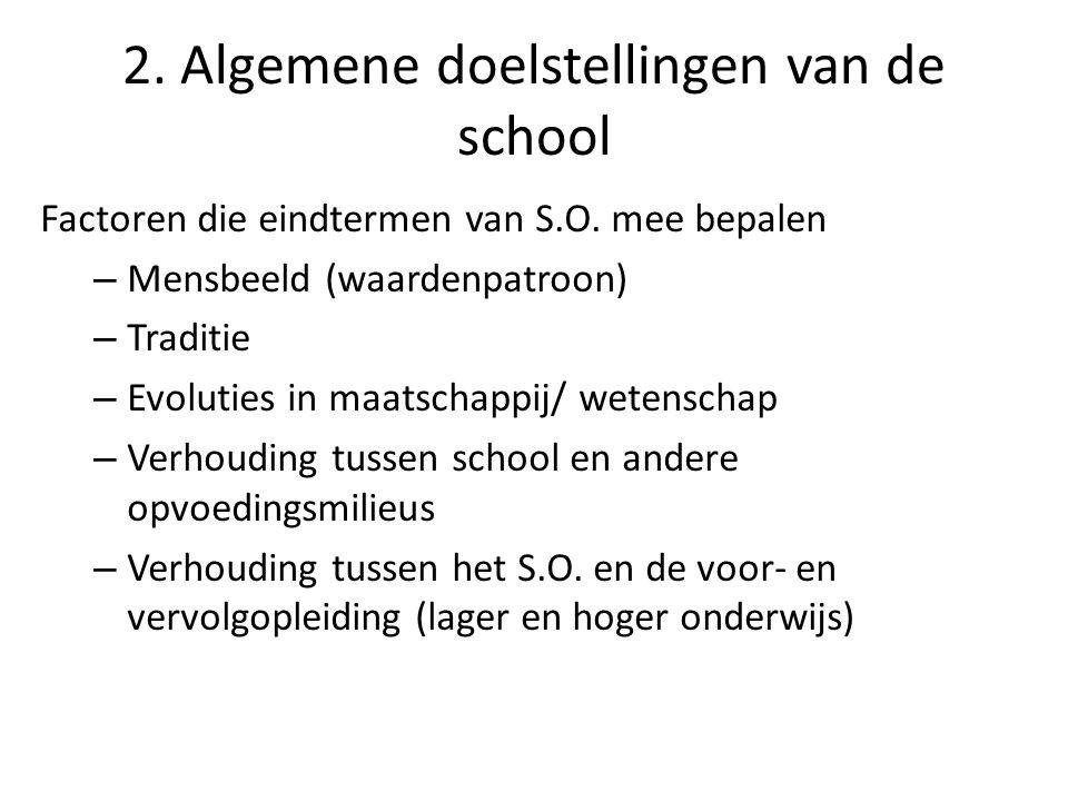 3.Dubbele functie van de school A.Functie t.o.v.