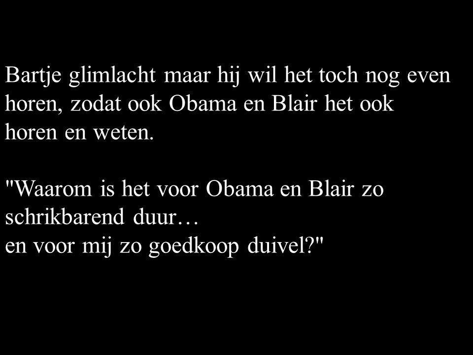"""De Wever is blij dat hij een streepje voor heeft! Hij hangt vervolgens 3 uur aan de telefoon. Als hij klaar is met bellen vraagt hij: """"Hoeveel is het?"""