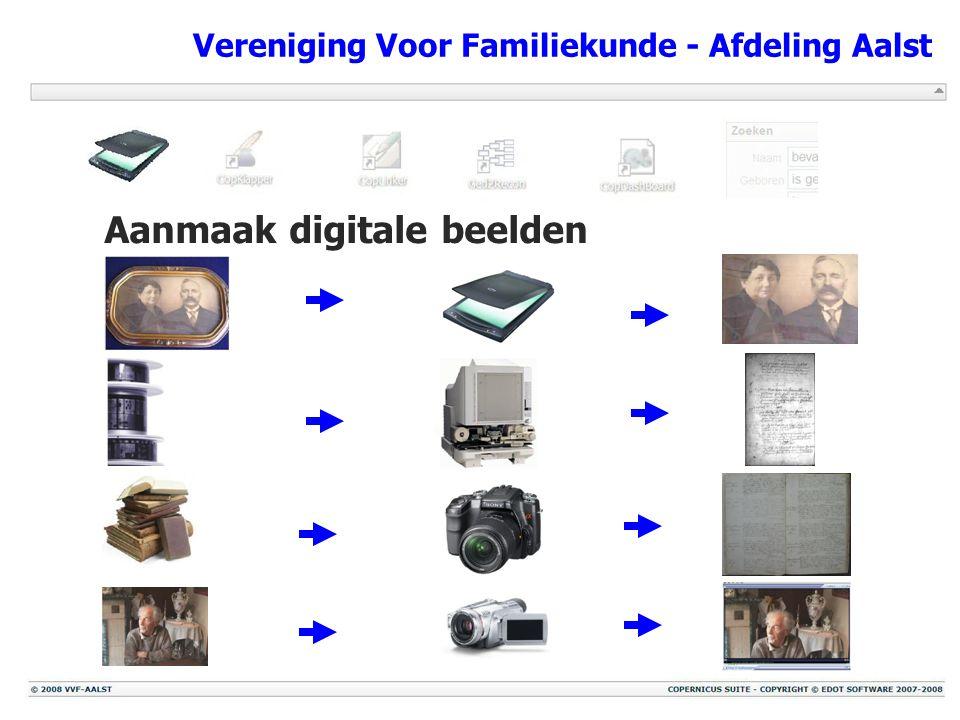 Vereniging Voor Familiekunde - Afdeling Aalst Aanmaak digitale beelden