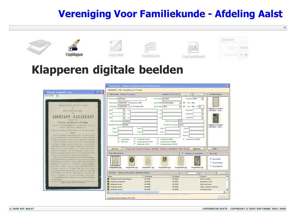 Vereniging Voor Familiekunde - Afdeling Aalst Klapperen digitale beelden
