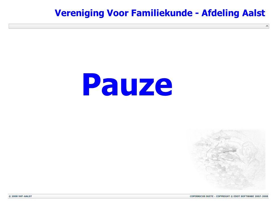 Vereniging Voor Familiekunde - Afdeling Aalst Pauze