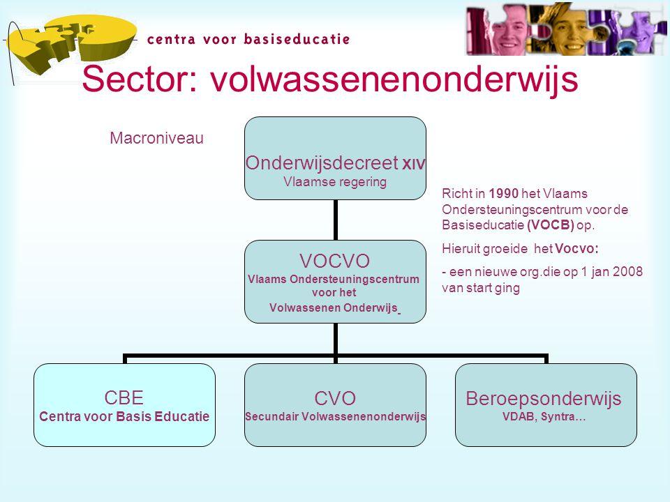 Sector: volwassenenonderwijs Mesoniveau Marconiveau