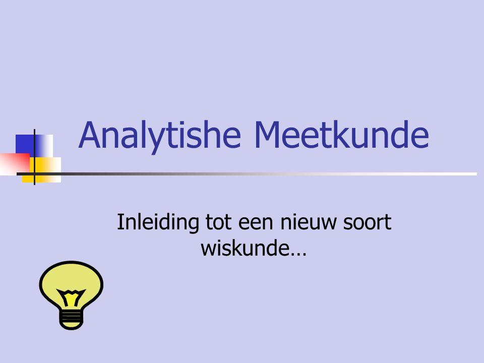 Analytishe Meetkunde Inleiding tot een nieuw soort wiskunde…
