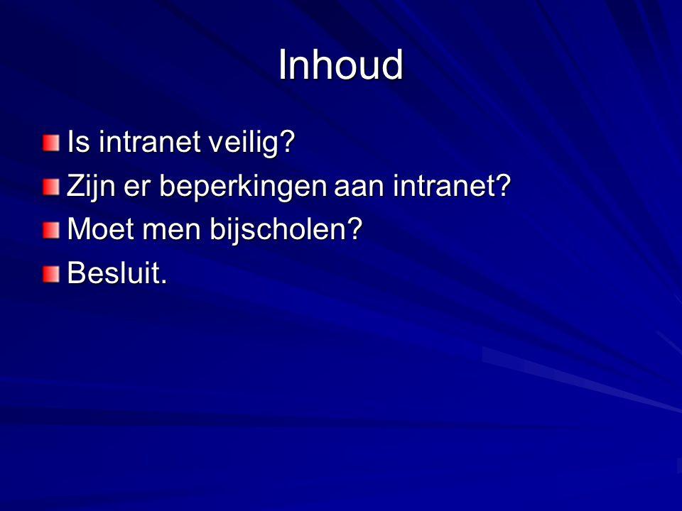 Wat is intranet.