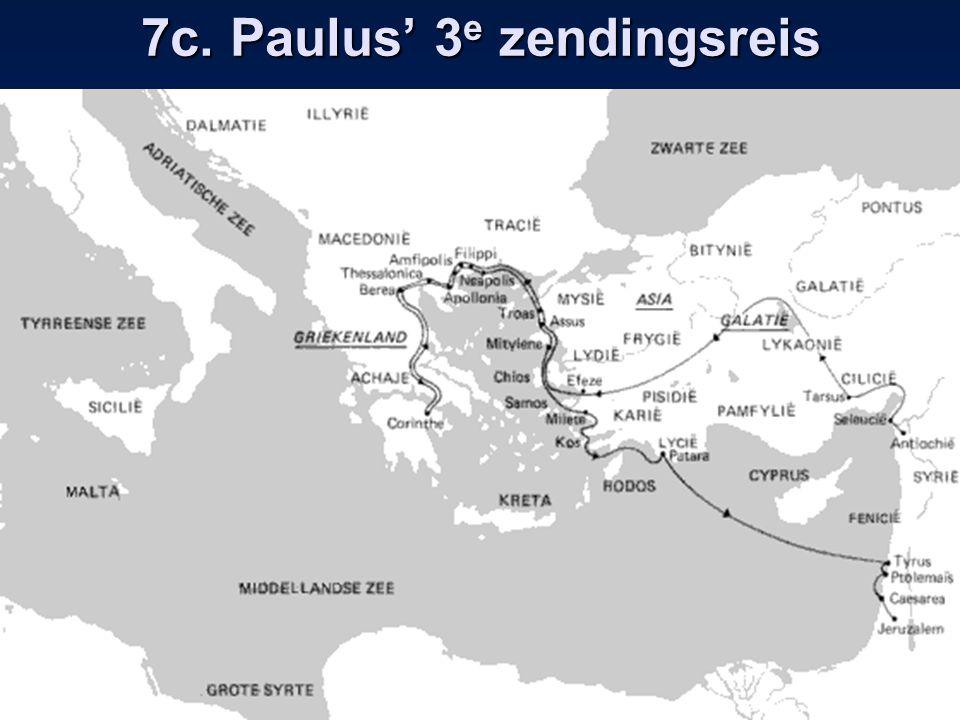 7c. Paulus' 3 e zendingsreis