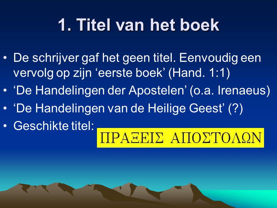 1. Titel van het boek De schrijver gaf het geen titel.