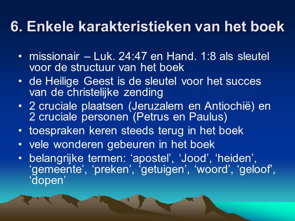 7.Indeling van het boek Hand.
