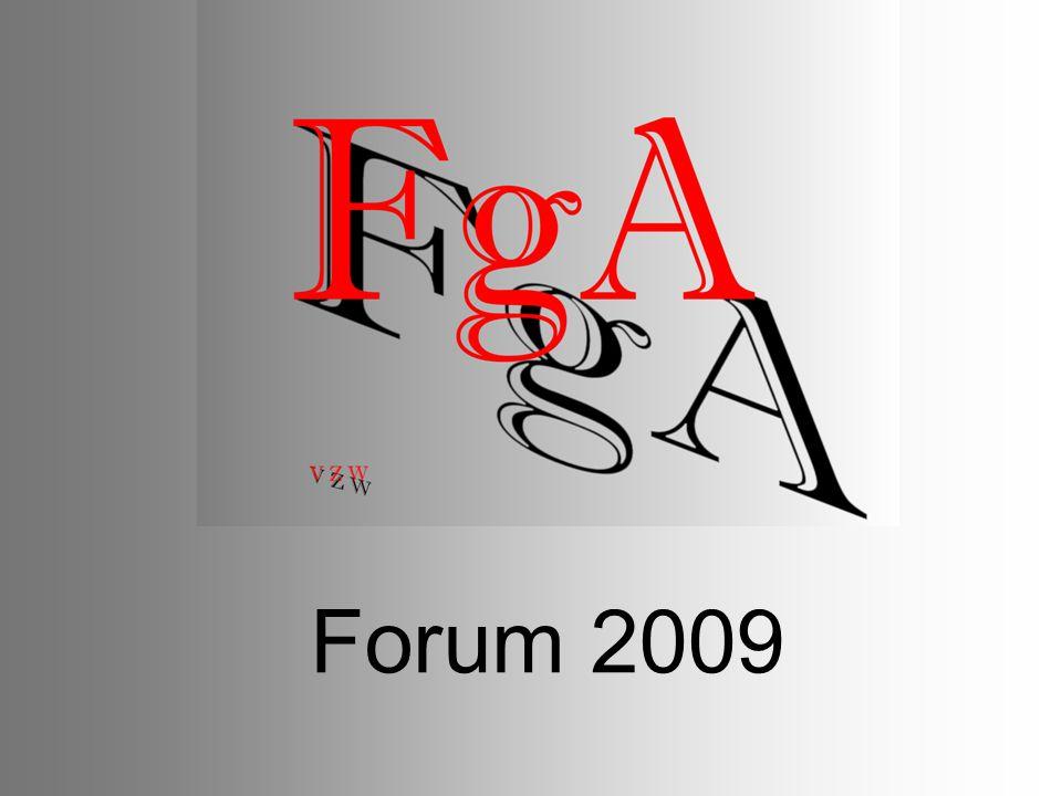FgA Forum 2009 FgA is steeds op zoek om de fotografie aan het brede publiek in de provincie kenbaar te maken.