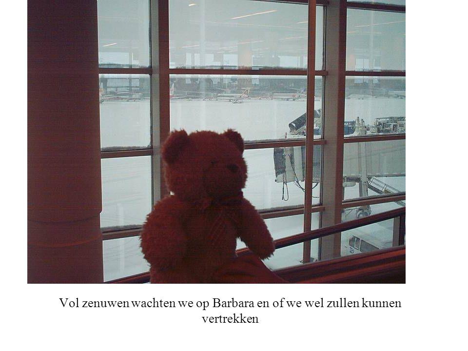 Vol zenuwen wachten we op Barbara en of we wel zullen kunnen vertrekken