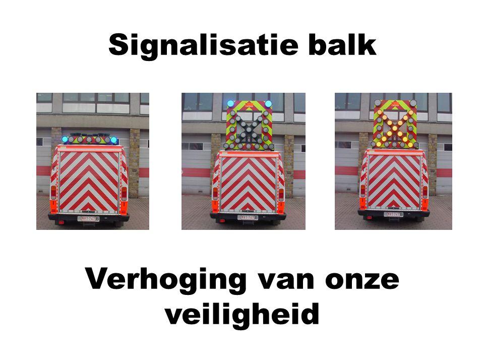 Signalisatie balk Verhoging van onze veiligheid