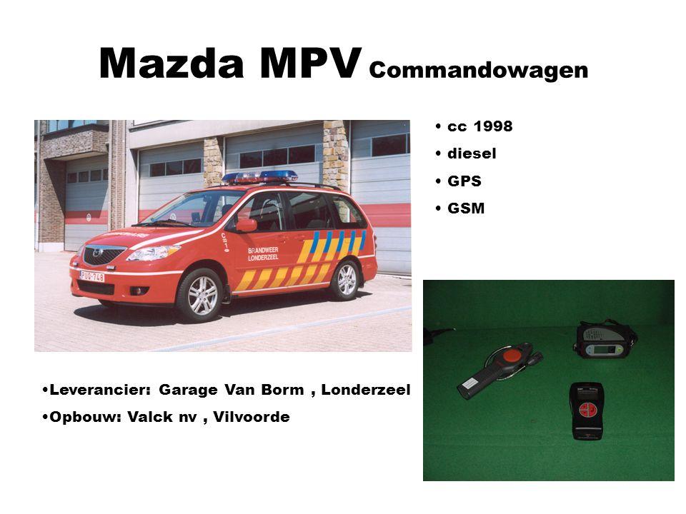 Mazda MPV Commandowagen Leverancier: Garage Van Borm, Londerzeel Opbouw: Valck nv, Vilvoorde cc 1998 diesel GPS GSM