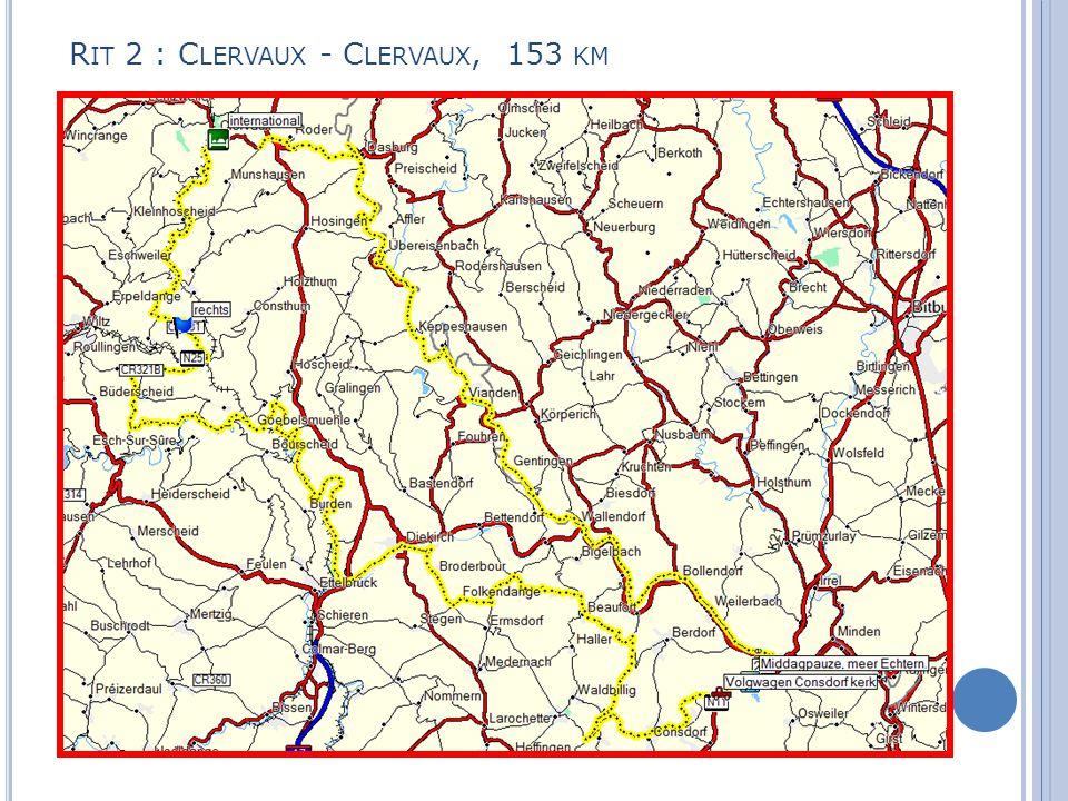 R IT 2 : C LERVAUX - C LERVAUX, 153 KM