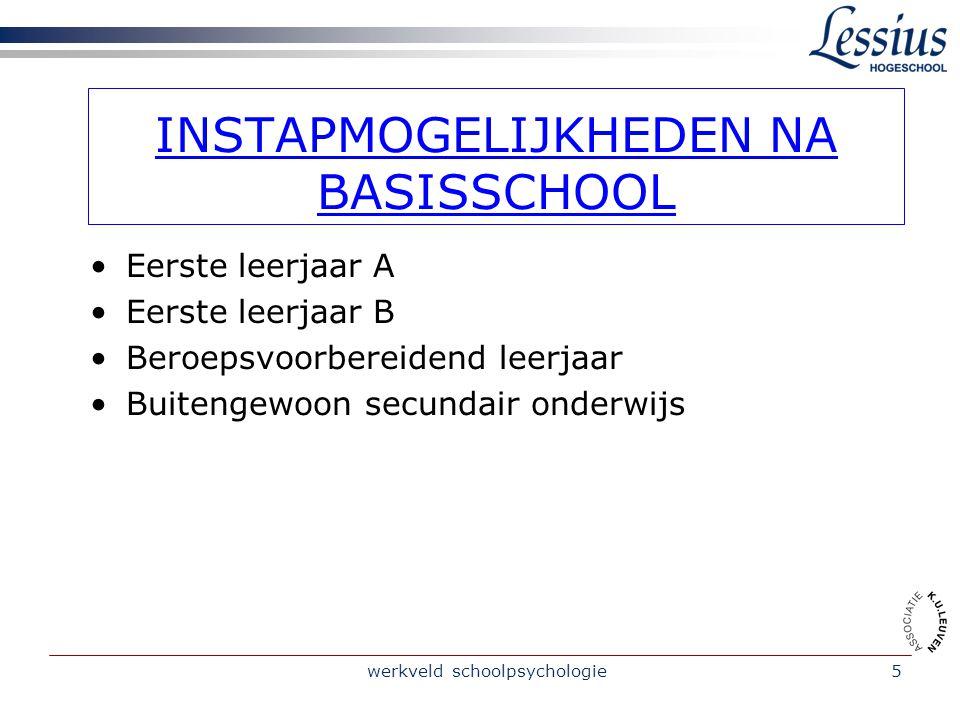 werkveld schoolpsychologie4 STRUCTUUR