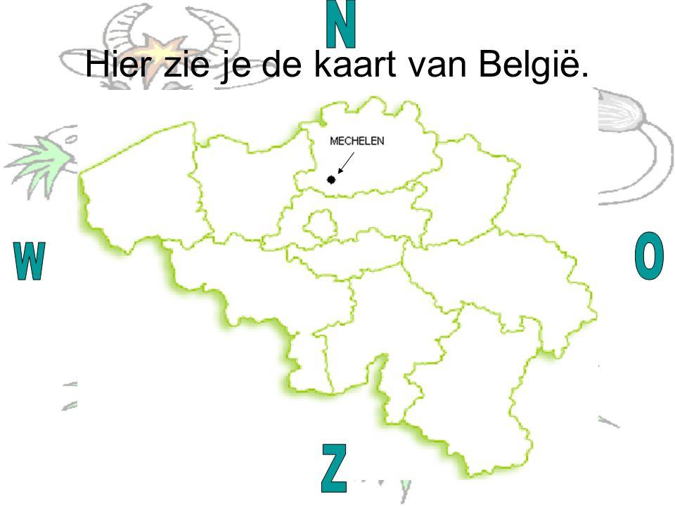 Hier zie je de kaart van België.