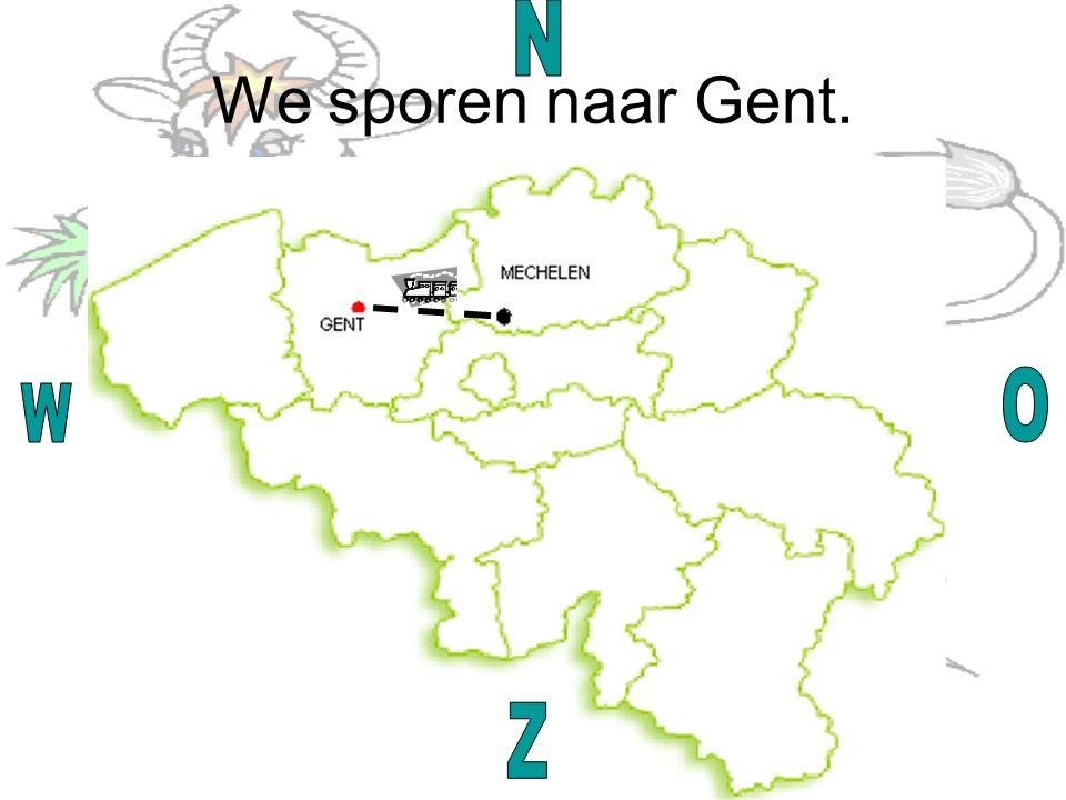 We sporen naar Gent.