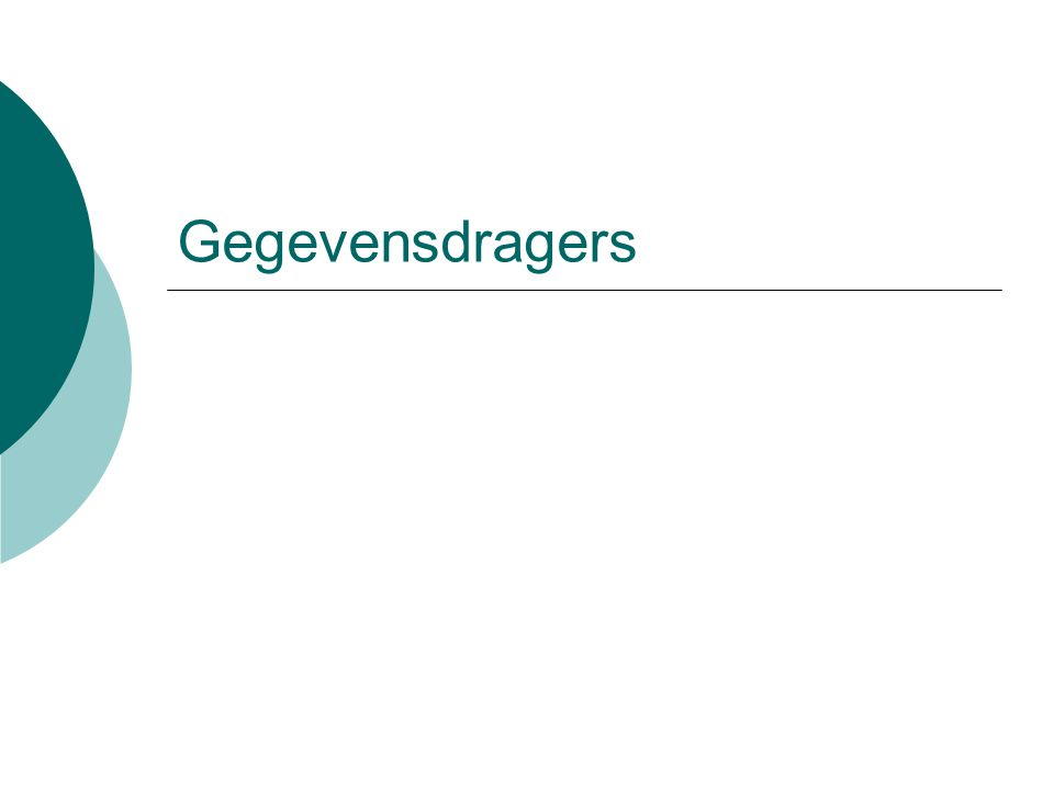 Gegevensdragers