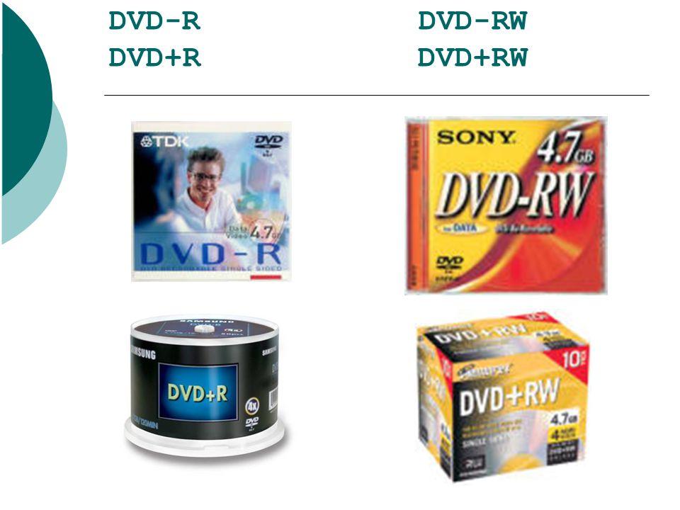 DVD-R DVD-RW DVD+R DVD+RW