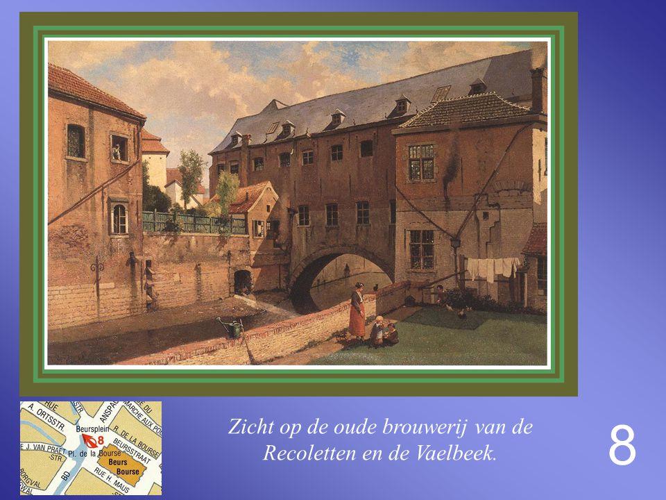 """7 Zicht vanuit de vroegere Middeleerstraat (nu A. Ortsstraat) op het kabaret """"Den Beer"""""""