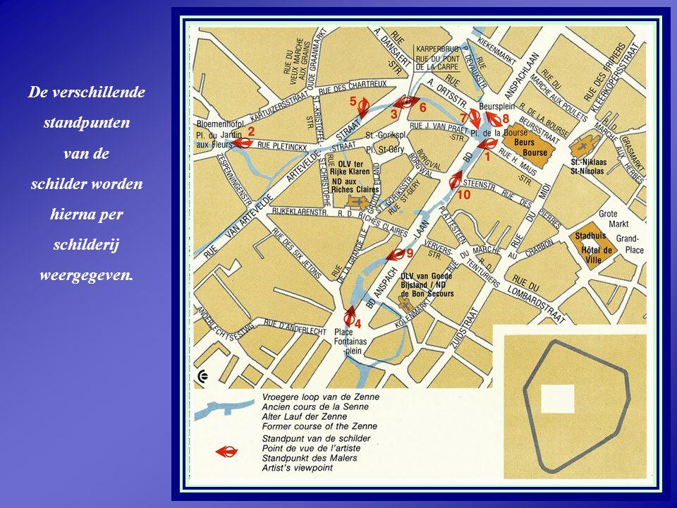 9 Zicht op een deel van de eerste muuromwalling van Brussel vanuit een woning over de Zenne