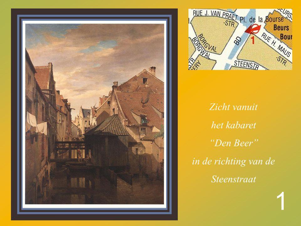 1 Zicht vanuit het kabaret Den Beer in de richting van de Steenstraat