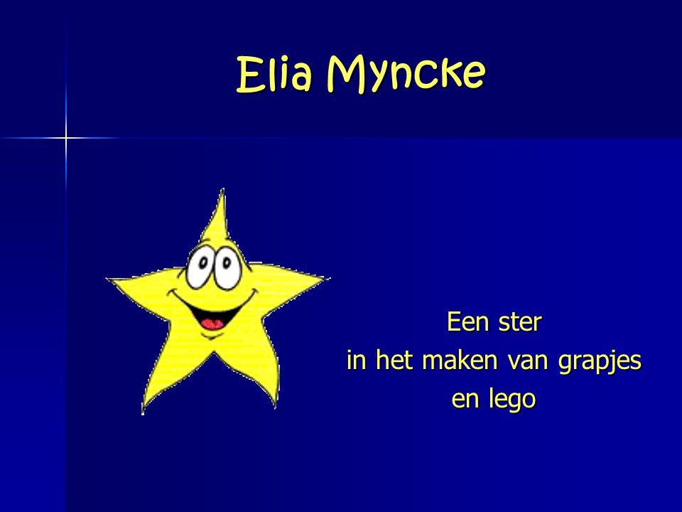 Elia Myncke Een ster in het maken van grapjes en lego