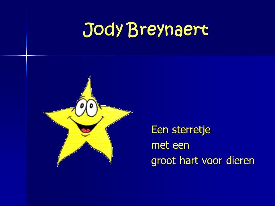 Jody Breynaert Een sterretje met een groot hart voor dieren