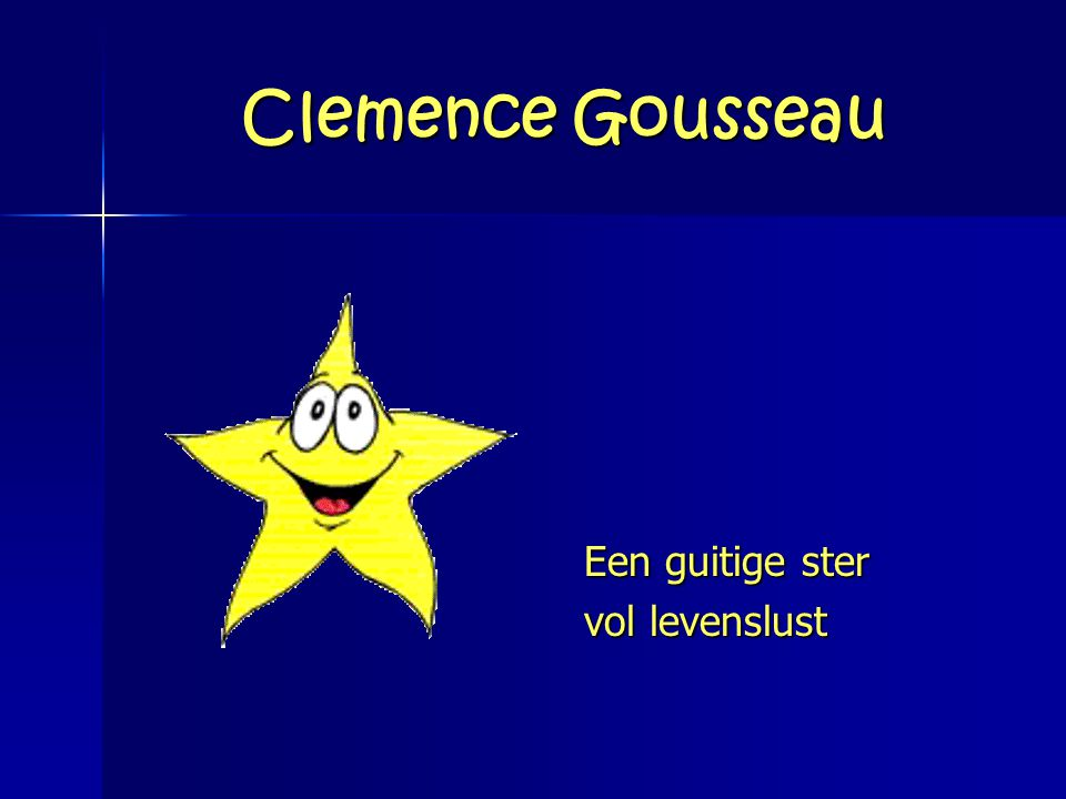 Clemence Gousseau Een guitige ster vol levenslust