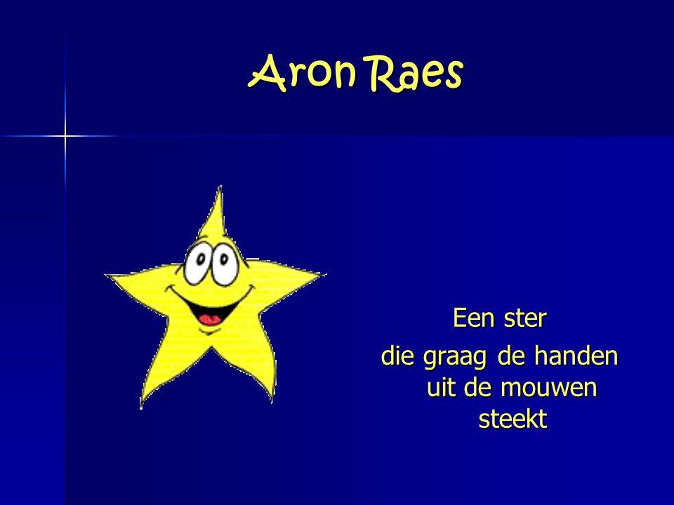 Aron Raes Een ster die graag de handen uit de mouwen steekt