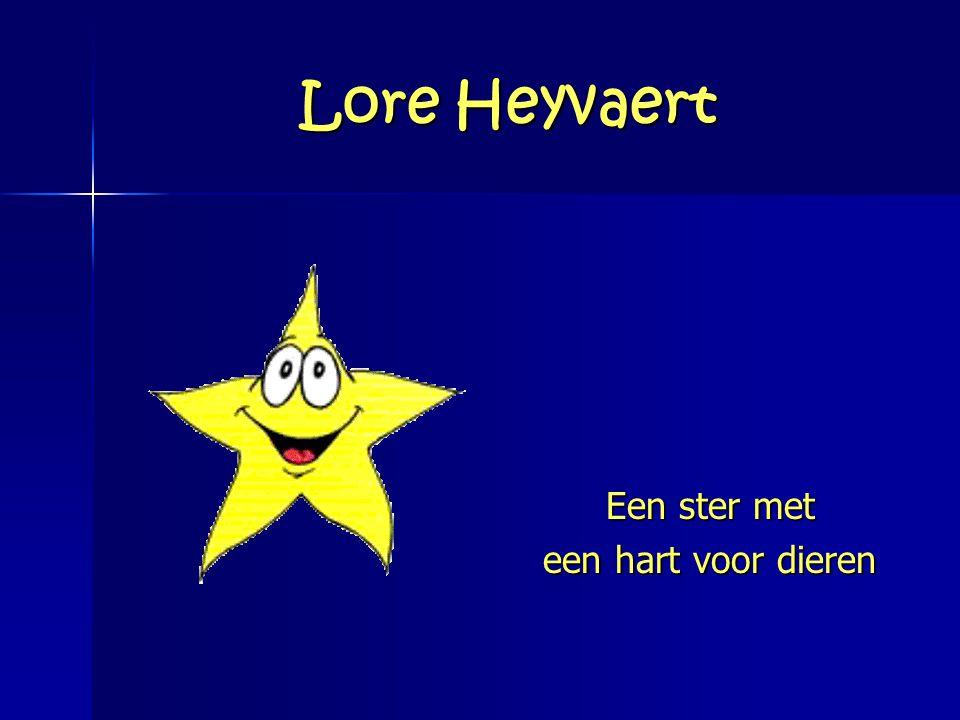 Lore Heyvaert Een ster met een hart voor dieren
