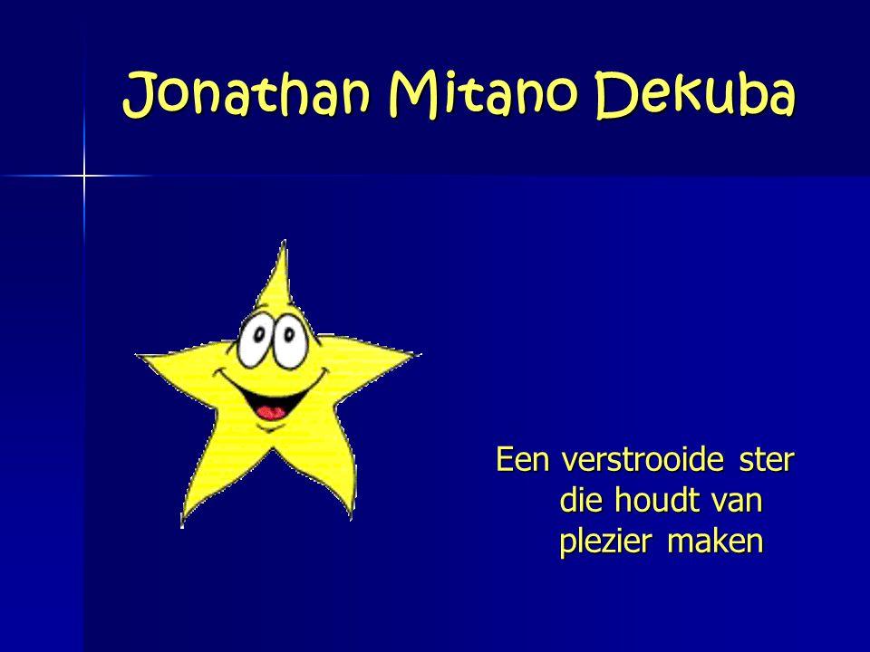 Jonathan Mitano Dekuba Een verstrooide ster die houdt van plezier maken