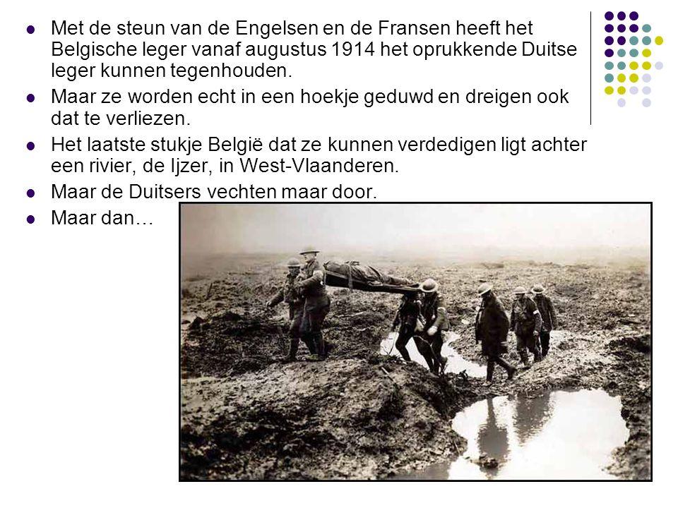 Met de steun van de Engelsen en de Fransen heeft het Belgische leger vanaf augustus 1914 het oprukkende Duitse leger kunnen tegenhouden.