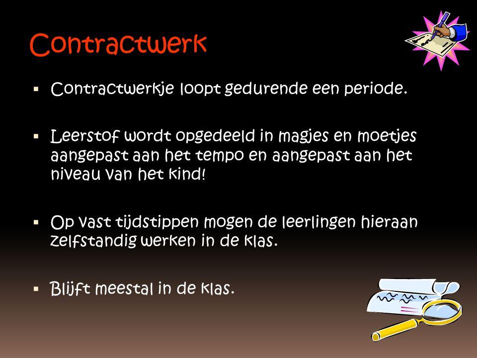 Contractwerk  Contractwerkje loopt gedurende een periode.