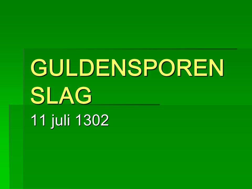 GULDENSPOREN SLAG 11 juli 1302