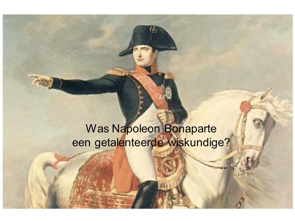 Stelling van Napoleon Op de drie zijden van een willekeurige driehoek construeert men buitenwaarts telkens een gelijkzijdige driehoek.