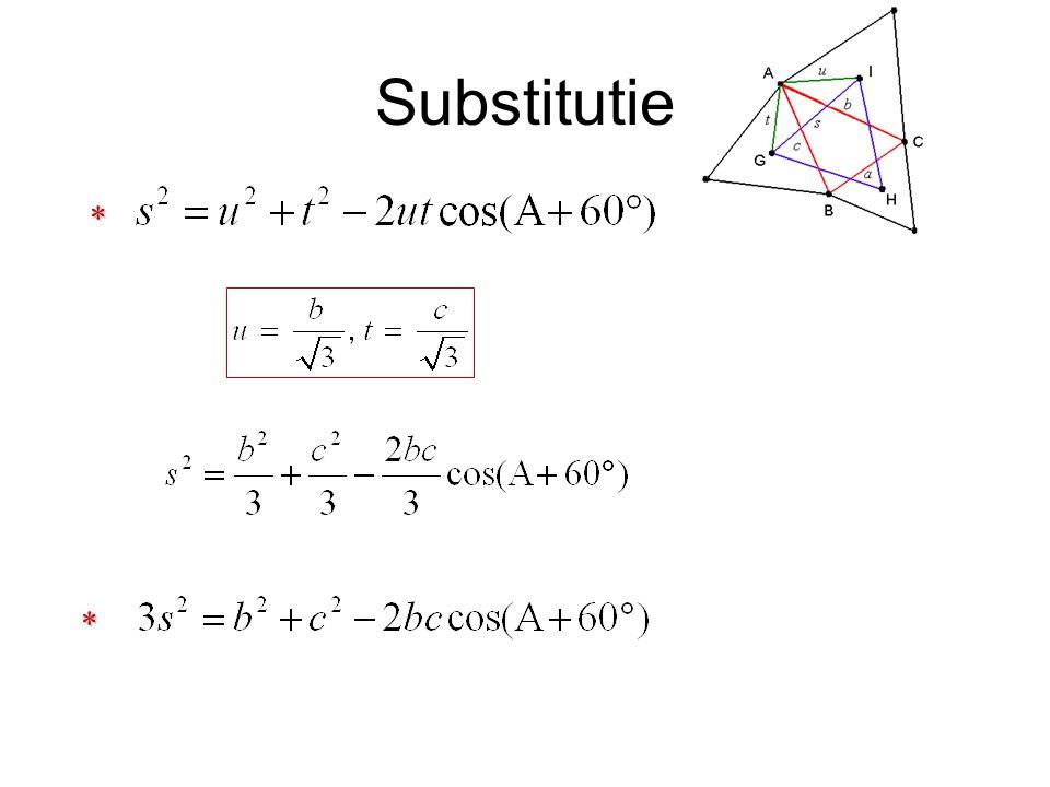 * Formule: cos(A+60°) = cos A.cos 60° - sin A. sin 60° cos(A+60°) = cos A.