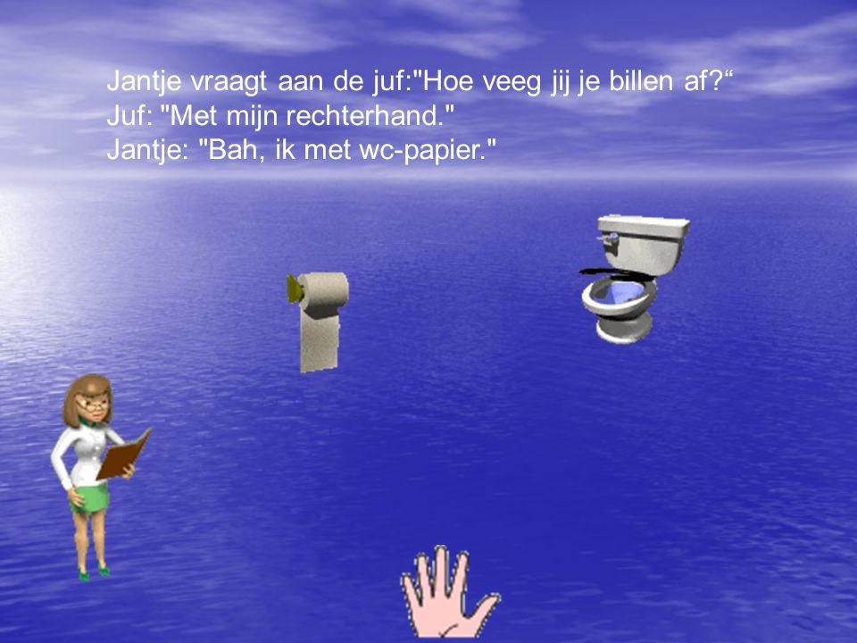 Jantje vraagt aan de juf:
