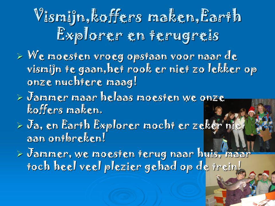 Vismijn,koffers maken,Earth Explorer en terugreis  We moesten vroeg opstaan voor naar de vismijn te gaan,het rook er niet zo lekker op onze nuchtere